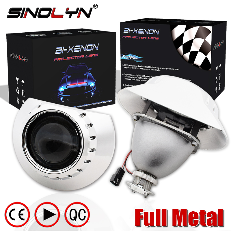 2.5 H1 HID Bi xenon Projector Lenses For BMW E46 M3 Saloon/Wagon/Coupe/Convertible AL/ZKW Halogen Headlight Tuning H7 Metal Kit
