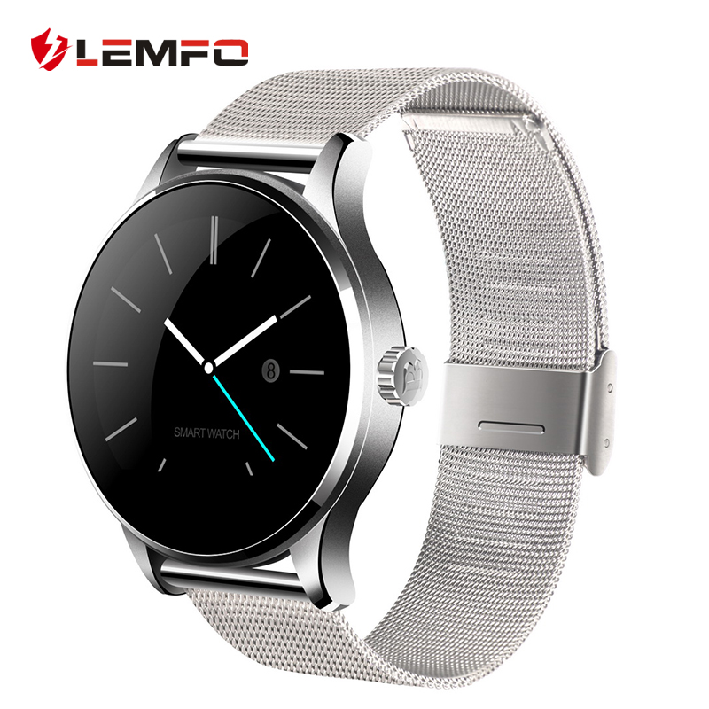 K88h Metal Bluetooth Smart Watch Smartwatch Heart Rate Monitor for Android IOS Phone round bluetooth smart watch classic health metal smartwatch with heart rate monitor for android iso phone remote camera clock
