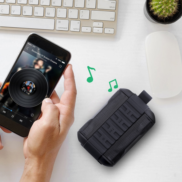 Bluetooth Speakers,MARSEE ZeroX Outdoor Portable Bluetooth Speaker Wireless Waterproof Mini Speaker Super Bass With Mic TF Card