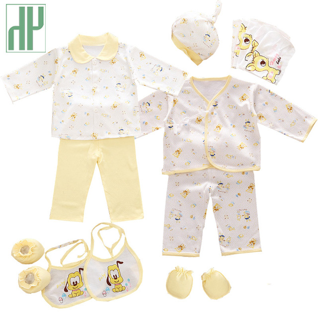 3adff836ca0 HH 100% cotton 18pcs set New born baby boy clothes 0-3 months Cartoon  Spring Summer newborn baby girl clothes gift set tracksuit
