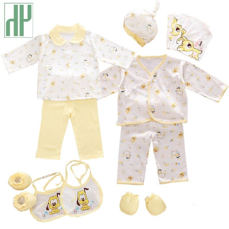 HH 100% cotton 18pcs/set New born baby boy clothes 0-3 months Cartoon Spring Summer newborn baby girl clothes gift set tracksuit