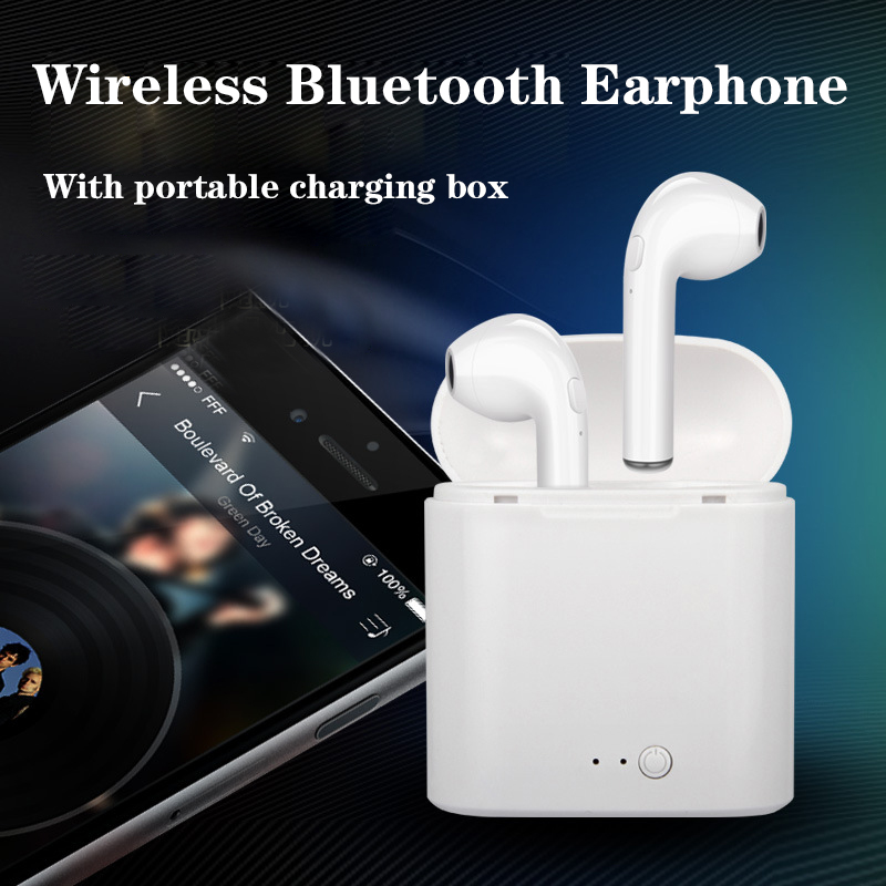 I7S TWS Earbuds Ture Wireless Bluetooth Double Earphones Twins Earpieces Stereo Music Headset For Apple iPhone X 8 8 Plus Huawei mini tws earbuds ture wireless bluetooth double earphones twins earpieces stereo music headset for iphone x 8 8 plus huawei