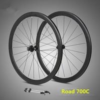 """זוג גלגלי האולטרה 700C אלומיניום סגסוגת כביש אופני אטום נושאות 40 מ""""מ חישוקים גלגלים-בגלגל אופניים מתוך ספורט ובידור באתר"""