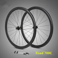 RS ultralight wheelset 700C aluminum alloy road bike sealed bearing 40mm rims wheels