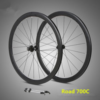 ultralight wheelset 700C aluminum alloy road bike sealed bearing 40mm rims wheels