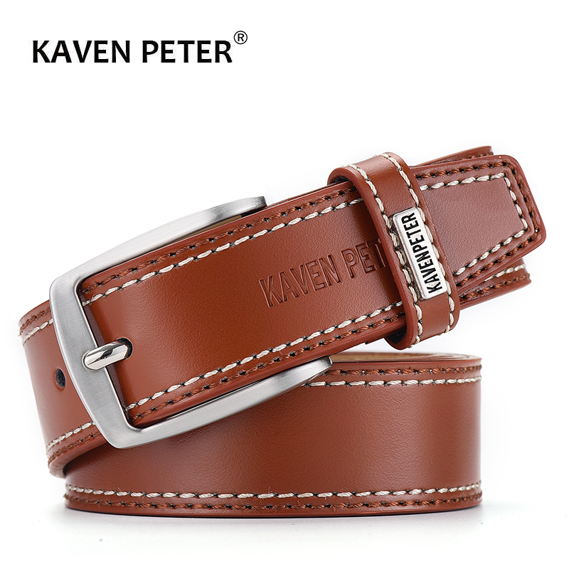 2019 Cow Genuine Leather   Belt   For Men Casual   Belts   Dropshipping Designer Luxury Pin Buckle Male Cowskin   Belt   High Quality Black