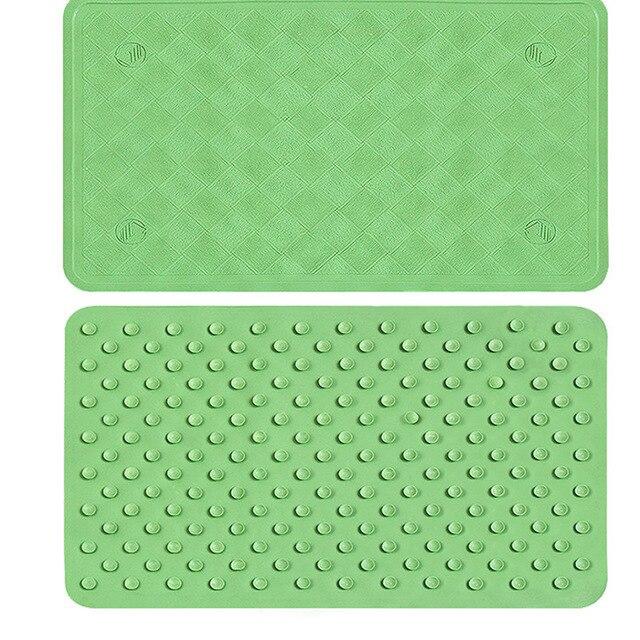 Modern Green Rubber Bath Mats Bathroom Carpet Non Slip Kitchen Rug Doormat  Floor Mat WC Rug Tapis Salle De Bain Home Decoration