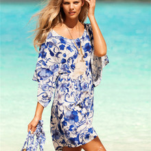 Beach Fashion Vintage Femininas Women Dress Tropical Print Quality Summer Style Vestidos De Festa Brand Summer Dress