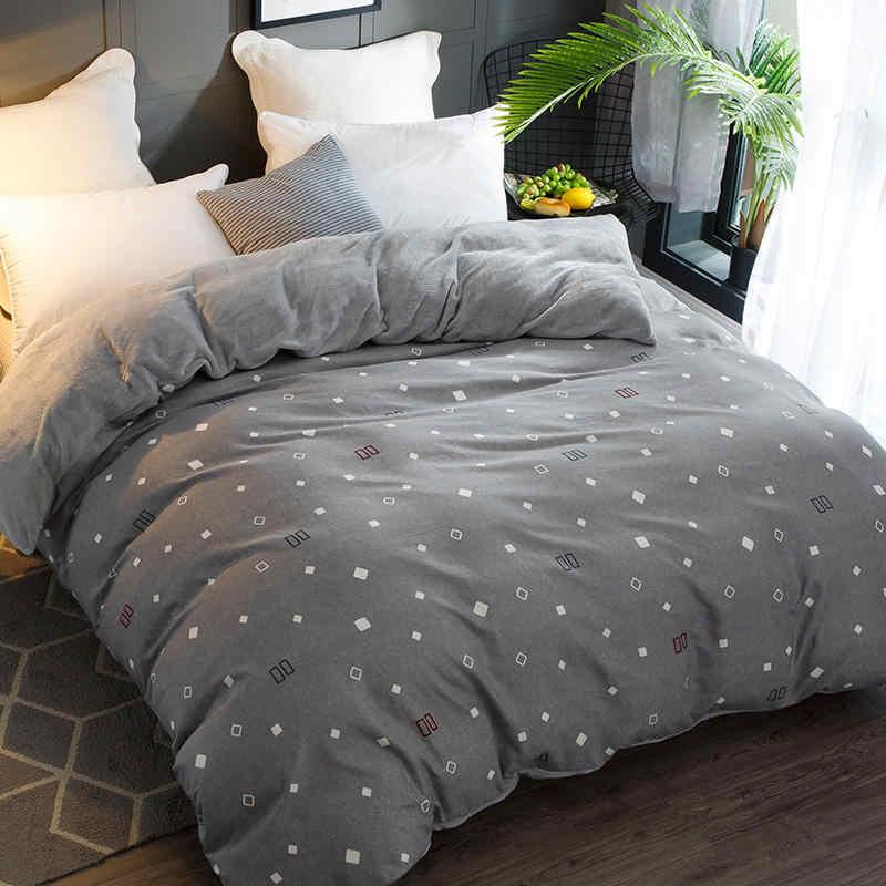 Качественный 100% хлопок + фланель Многофункциональный AB по бокам зимние теплые пододеяльник спальные мешки двуспальное одеяло крышки пододеяльник