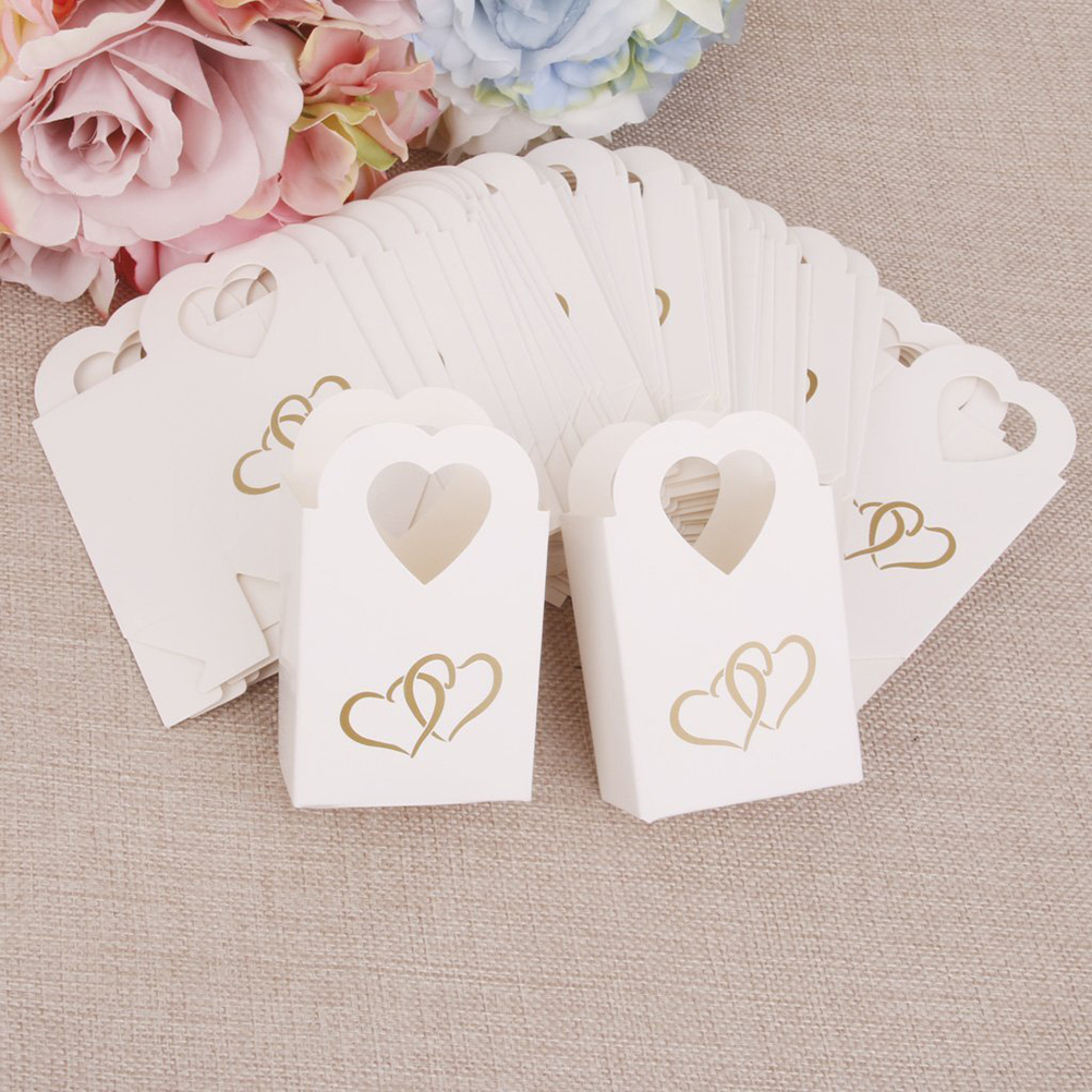 100pcs Wedding Favors and Gifts Baby Shower Paper Candy Box Ferrero ...