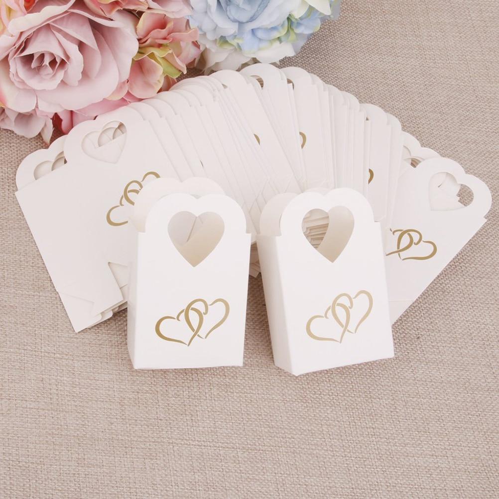 Aliexpress.com : Buy Hot 50pcs Favors Box Candy Box Wedding Christening Gift Party Candy Treat Bag Wedding Favors Candy Box Gift Bags from Reliable ...