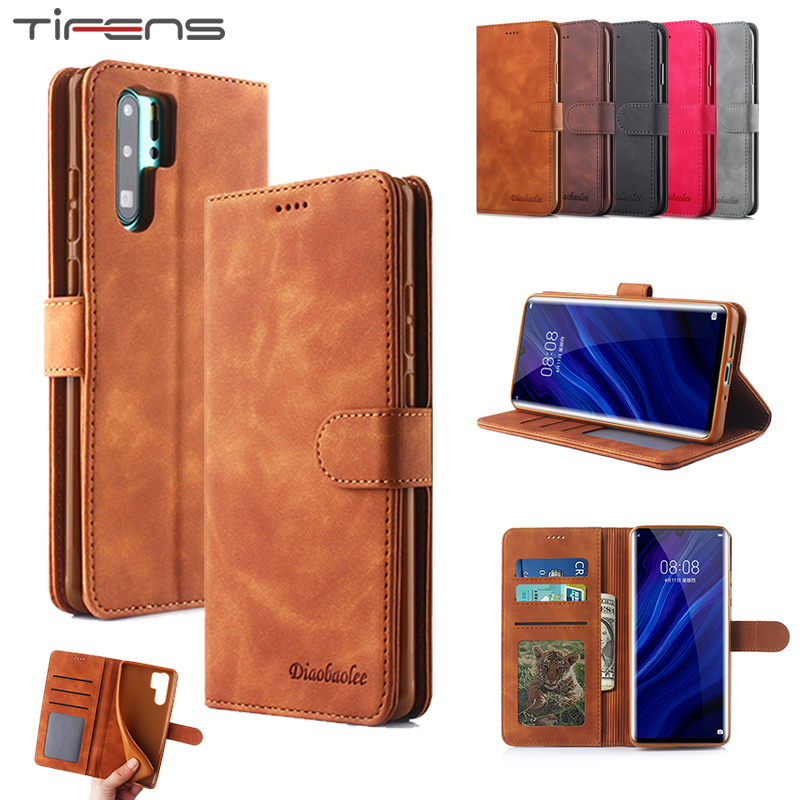 Leather Flip Wallet <font><b>Case</b></font> For <font><b>Huawei</b></font> P20 P30 P40 Mate 20 30 Pro Lite Psmart Plus Y9 <font><b>Y7</b></font> <font><b>2019</b></font> Nova 5i 5 Honor 20 9X Pro Card <font><b>Cover</b></font> image