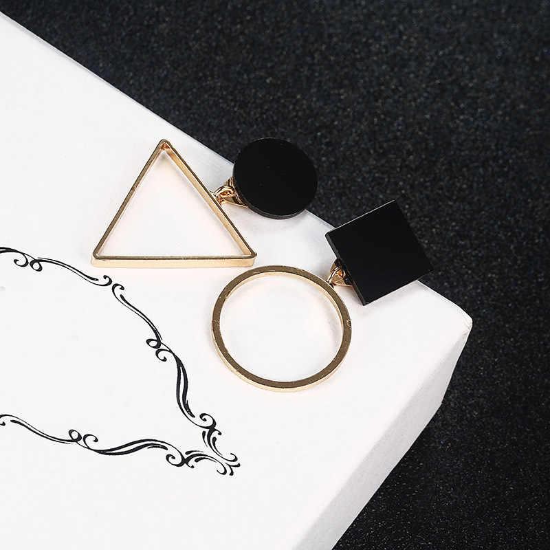 ใหม่แฟชั่นเรขาคณิตสตั๊ดต่างหูผู้หญิงรอบสามเหลี่ยมออกแบบ Elegant ต่างหูสำหรับงานแต่งงานวันเกิดของขวัญ