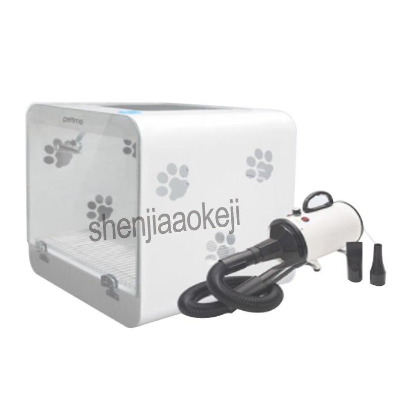Автоматическая ПЭТ сушильном шкафу закаленное Стекло + акриловая пластина фен для маленького питомца Smart Температура Дисплей Сушилка 220 В