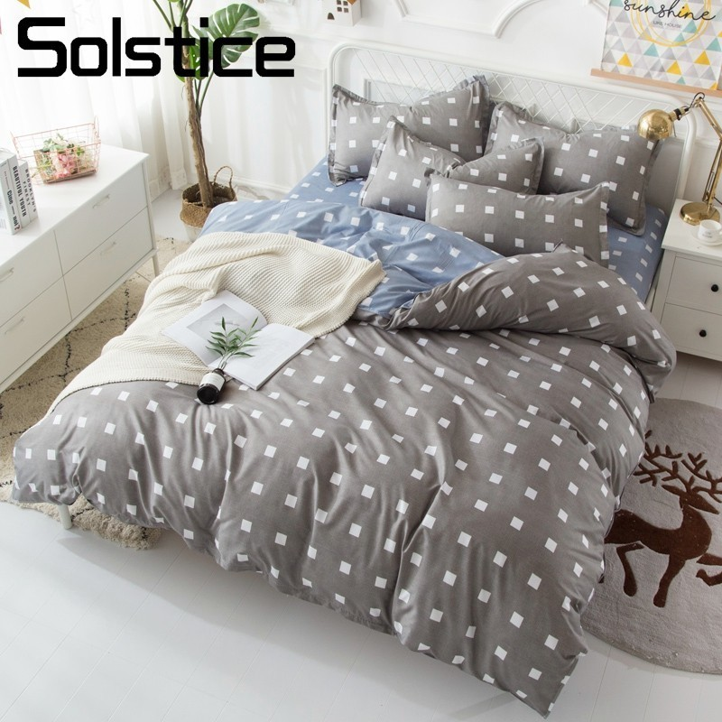Solstice Pillowcase Bedding-Sets Duvet-Cover Flat-Sheets Geometric King-Queen-Linens