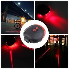 5 LED 2 Laser Cycling Bicycle Bike light 7 Flash Mode Safety Rear Lamp waterproof Laser Tail Warning Lamp Flashing 5 led 2 laser