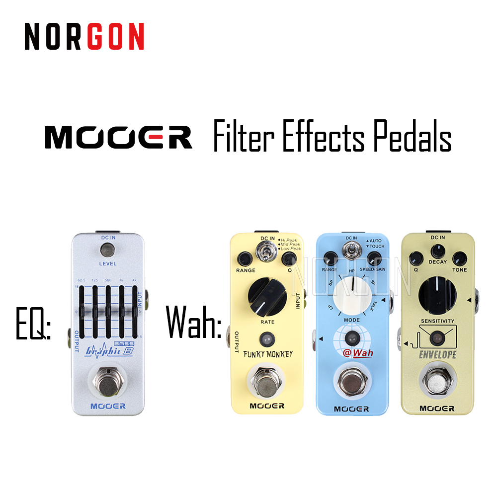 Mooer Guitar Filter Effects Pedal Electric Digital Auto Wah Stompbox Funky Monkey Graphic G Envelope Wah