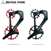 12/18Т Керамика подшипник задний переключатель передач велосипедный опорное колесо Комплект Корпус из углеродного волокна для велосипеда пр...
