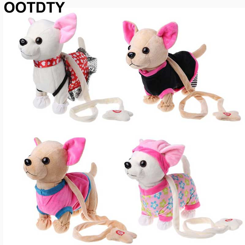 Electronic Pet Robot Dog Zipper Walking Singing Interactive Toy With Bag For Children Kids Birthday Gifts