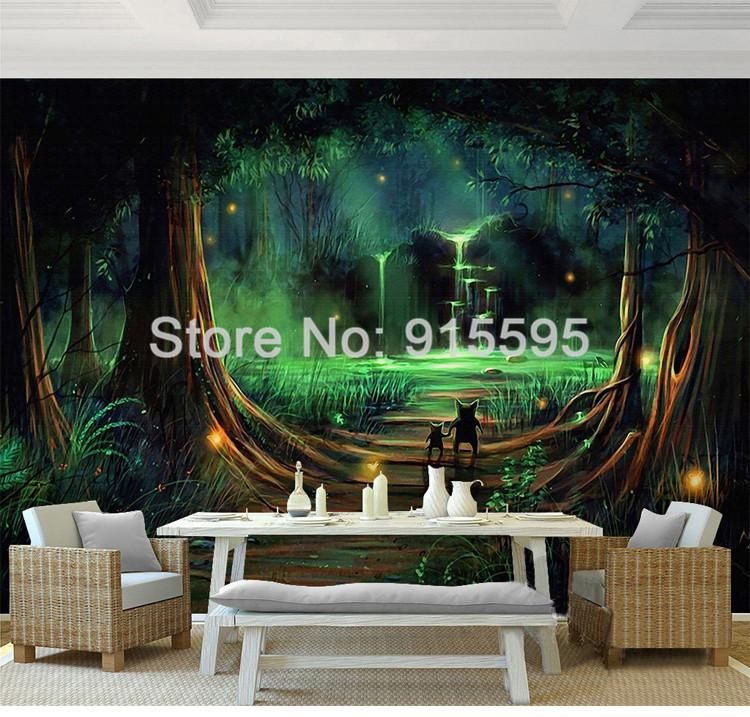 HTB18OFBQXXXXXXlapXXq6xXFXXX7 - Wall Home Decor Custom Photo Wallpaper 3D Abstract Forest Waterfall Animal Children Room Bedroom Non-woven Wallpaper Murals 3D