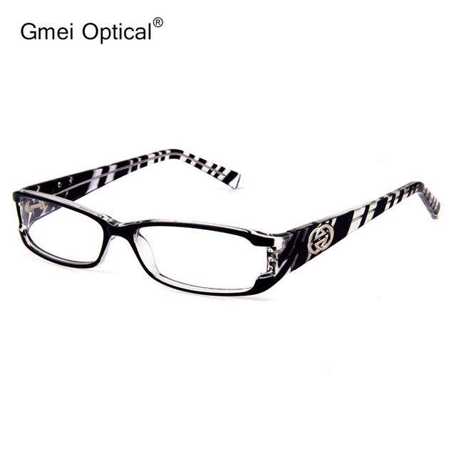 Nuevo Estilo de la Alta Calidad de Plástico Rectángulo Mujeres Marco de Anteojos Ópticos Borde Completo con Cristales Brillantes En La Esquina Frontal