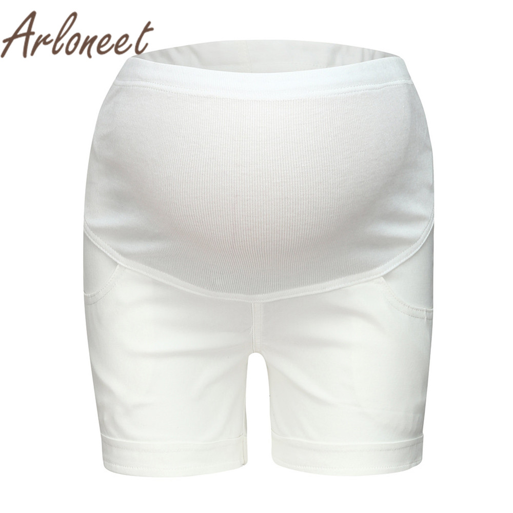 ARLONEET Clothes women maternity high waist   shorts   soft Solid   shorts   Pants large size Summer ladies pregnancy Casual clothes