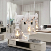Hot Bird Chandelier Pendant Lamp Creative Glass Chandeliers Ceiling Lamps And Lanterns American Rural Three Restaurant