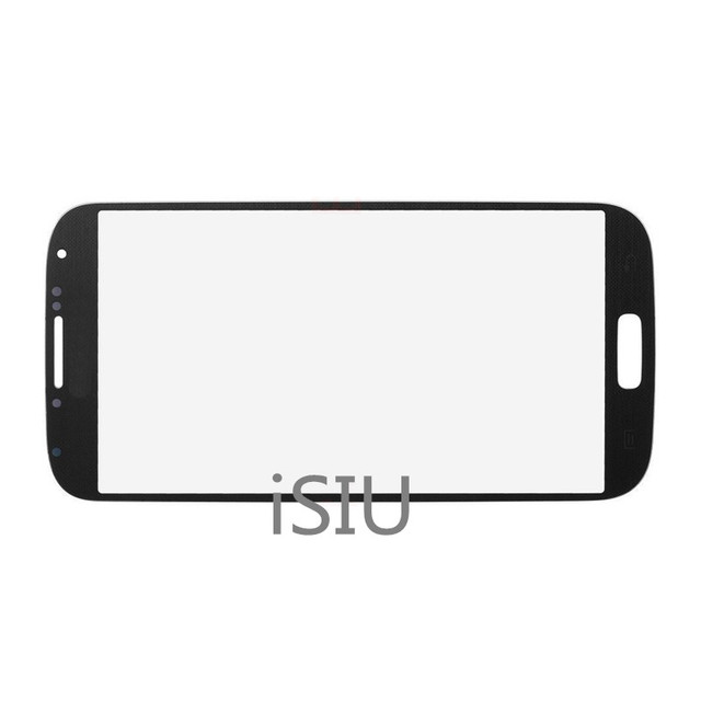 iSIU Mobile Phone Touch Screen For Samsung Galaxy S4 i9500 GT-I9500 Touch Panel Front Galss Black White NO LCD DISPLAY DIGITIZER