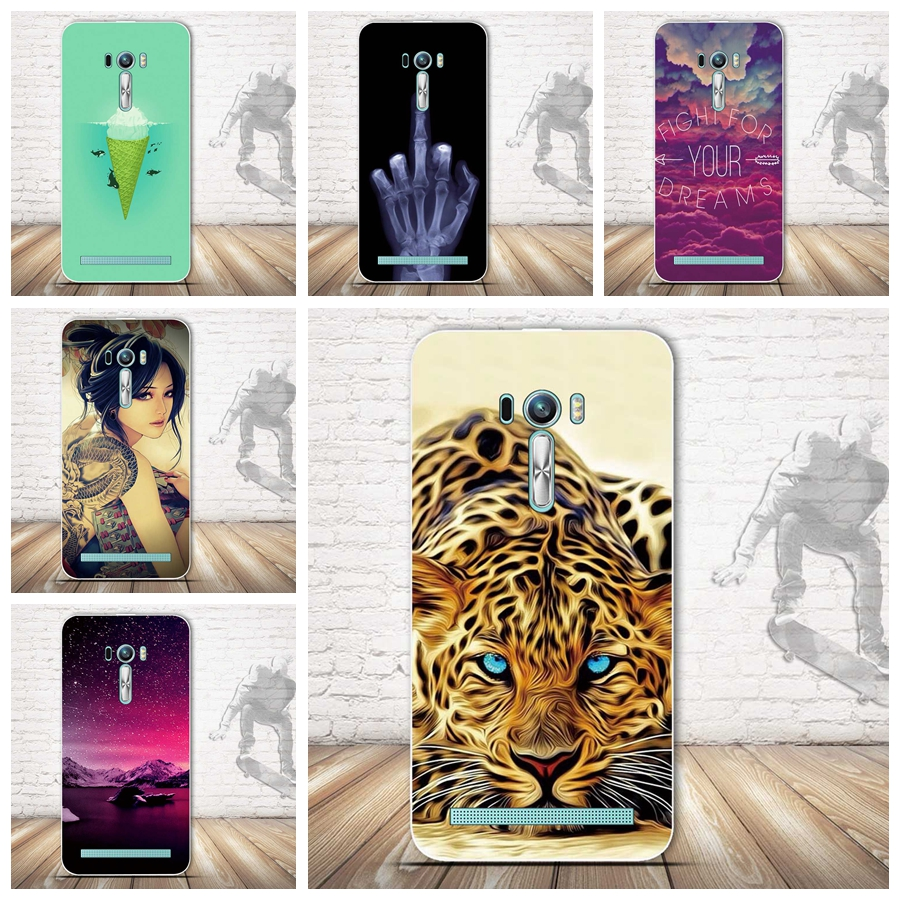Soft Silicon Case for Coque ASUS ZenFone 2 Laser ZE500KL Case Luxury Printing Back Cover for Asus ZE500KL Cover 5.0 Phone Case image