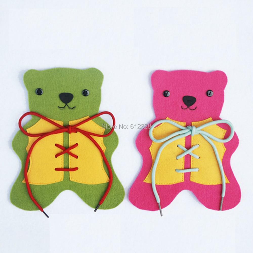 2 db egy csomó Viselje a medve ruhák húrja fejlett baba játékokat