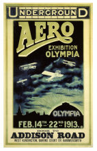 Vintage Advertising Poster Olympia Aero Exhibition Classic Canvas Paintings Vintage Wall Posters Stickers Home Decor Gift(China)