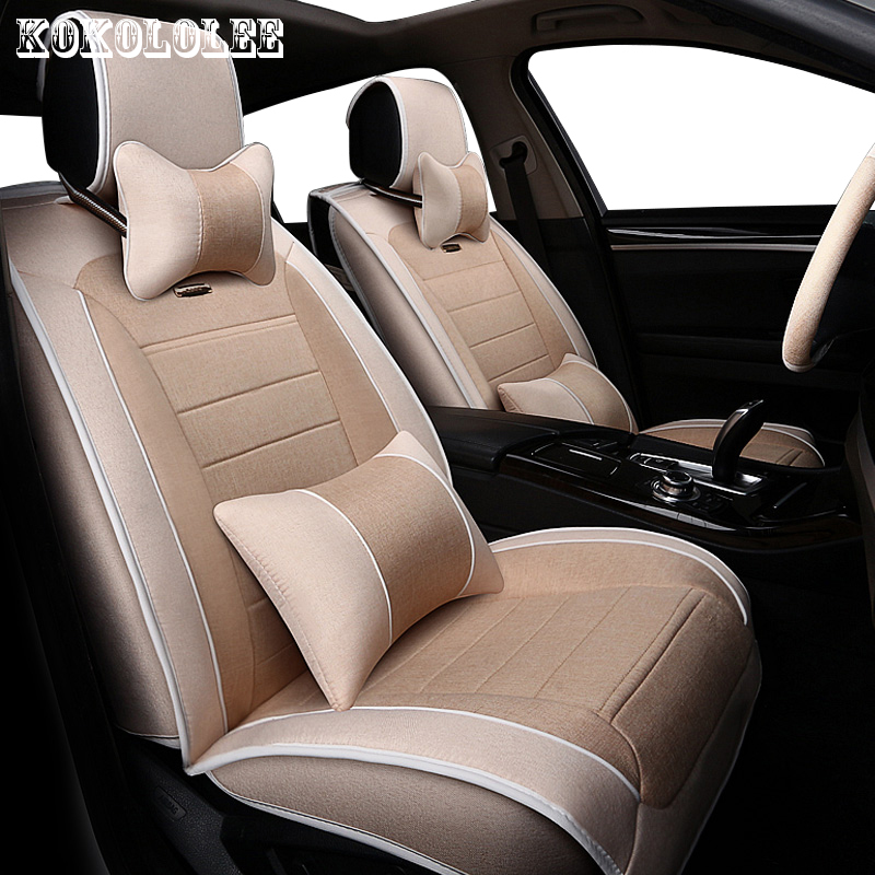 KOKOLOLEE Universal auto linen Car seat cover For Volvo S60L V40 V60 S60 XC60 XC90 C70 automobiles car seats accessories styling 2017 luxury pu leather auto universal car seat cover automotive for car lada toyota mazda lada largus lifan 620 ix25