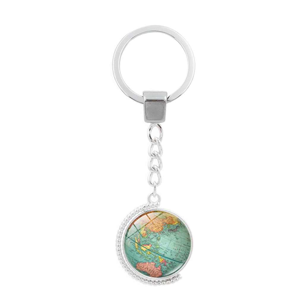 Vintage globe map keychain world map art glass round dome pendant pendant diameter 2cm sciox Images