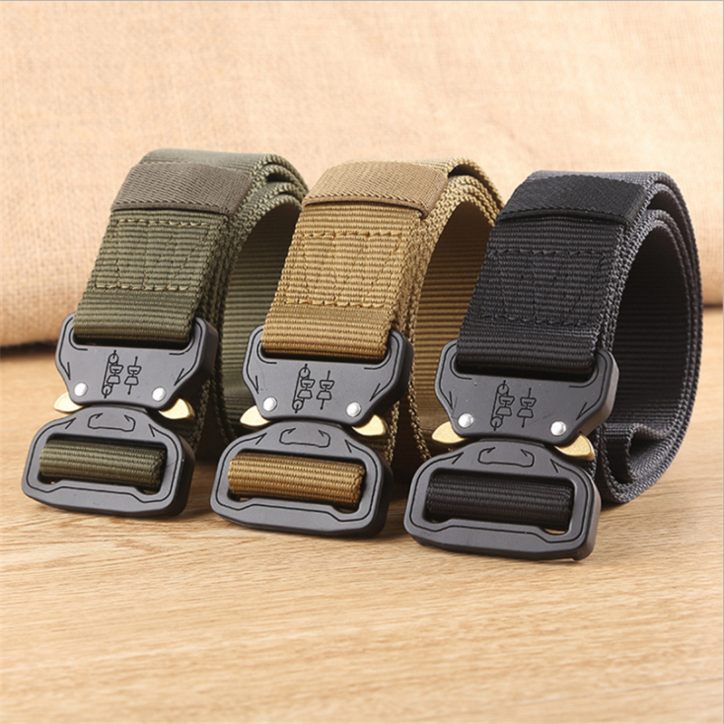 Tactical Belt Cobra Head Buckle 3.8 cm Wide Canvas Belts For Men Nylon Belts with Alloy Steel Buckle High Quality zhaxin western style business belt with alloy buckle for men