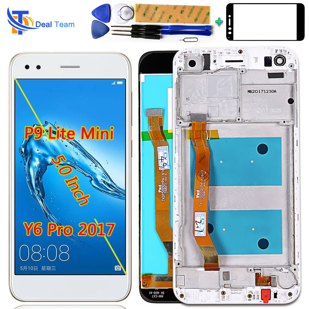 Deal Team 5.0 Inch LCD Display For Huawei P9 Lite Mini / Y6 Pro 2017 SLA-L02 L22 TL00 Touch Screen Digitizer Assembly Frame