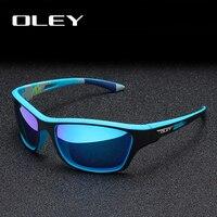 Мужские брендовые солнечные очки OLEY, синие солнцезащитные очки с поляризацией, солнечные очки для вождения, спортивные очки для улицы, моде...