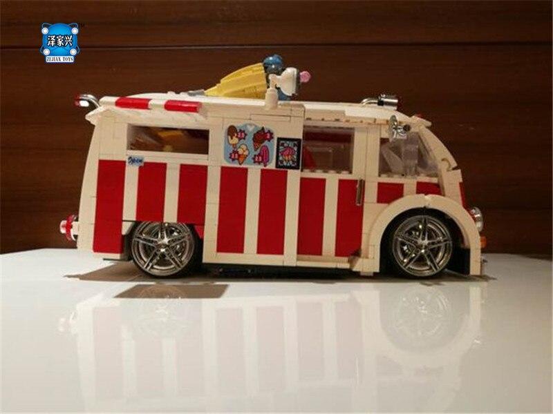1000Pcs Genuine Technic Series The Ice Cream Car Set Xingbao Building Blocks Bricks Children Educational Toys Model Gifts le 21021 953pcs genuine technic series the camel fighter set children building blocks bricks educational toys model 10226