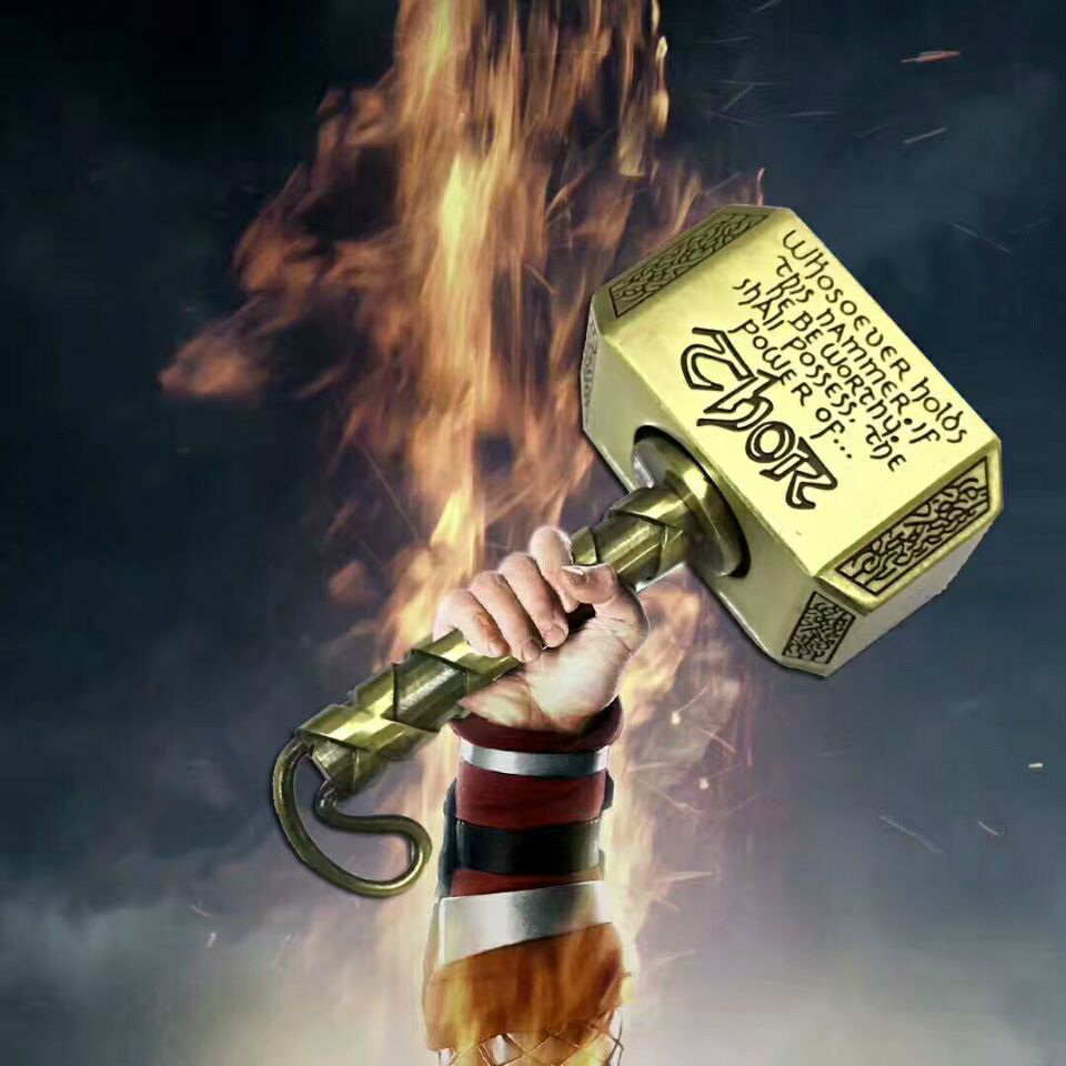 2017 Thor s Hammer R188 bearing Fidget Spinner Hand Finger Toy Keychains Alloy Handspinner anti stress