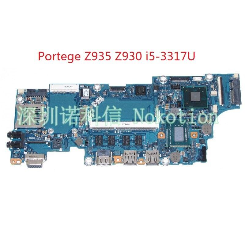 FAU2SY1 A3267A For toshiba Portege Z935 Z930 laptop motherboard SLJ8E HM77 DDR3 SR0N8 I5-3317U CPU Onboard