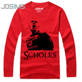 Paul Scholes T-Shirt Men Fashion 2017 Men's Long Sleeve T Shirt Cotton Casual T-Shirt Male Spring Autumn Clothing A1540
