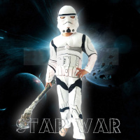 New Child Boy Deluxe Star Wars The Force Awakens Storm Troopers Cosplay Fancy Dress Kids Halloween