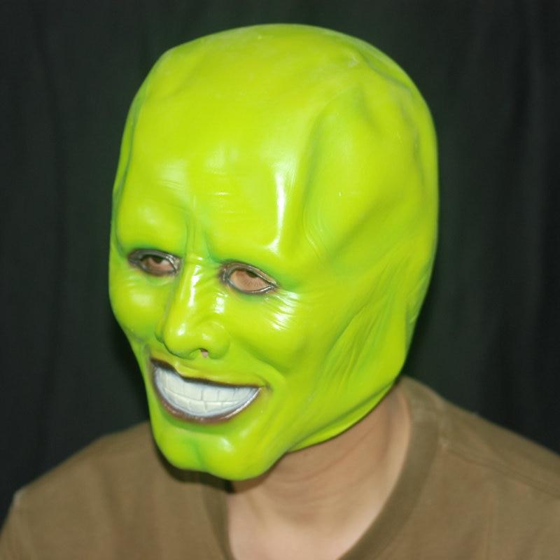 Halloween masky Maska Jim Carrey Přírodní latexová maska hlavy