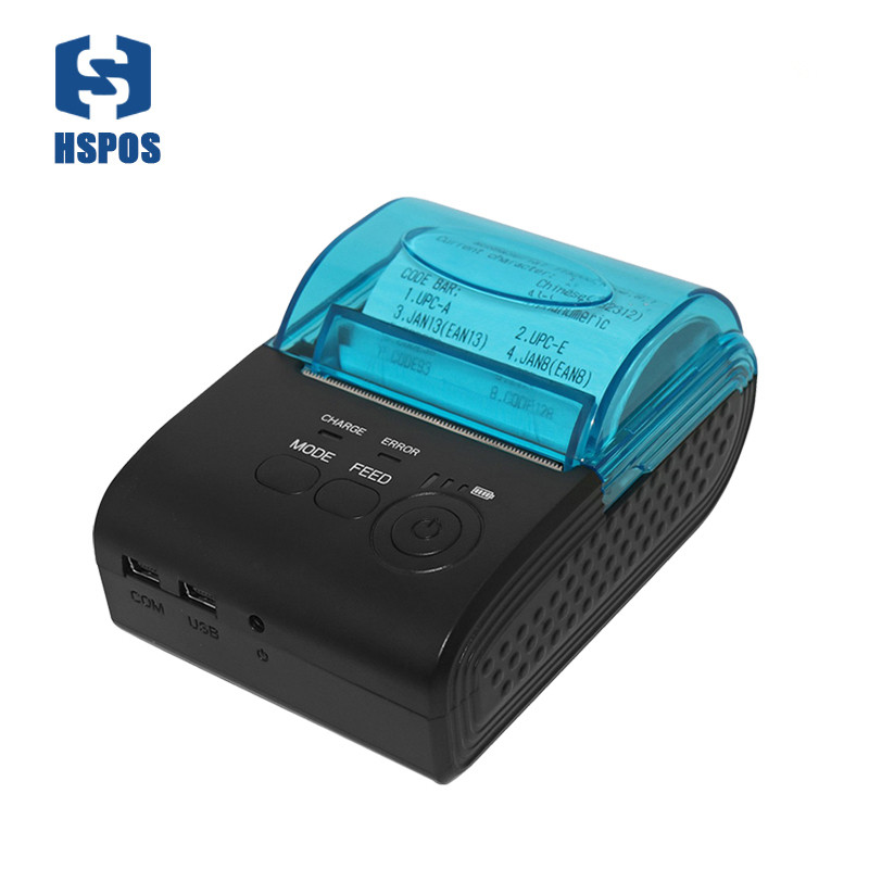 Pos 58mm Thermal Portable Bill Printer Bluetooth Android Mobile Receipt Printer Usb Serial Port HS-590A With One Year Warranty
