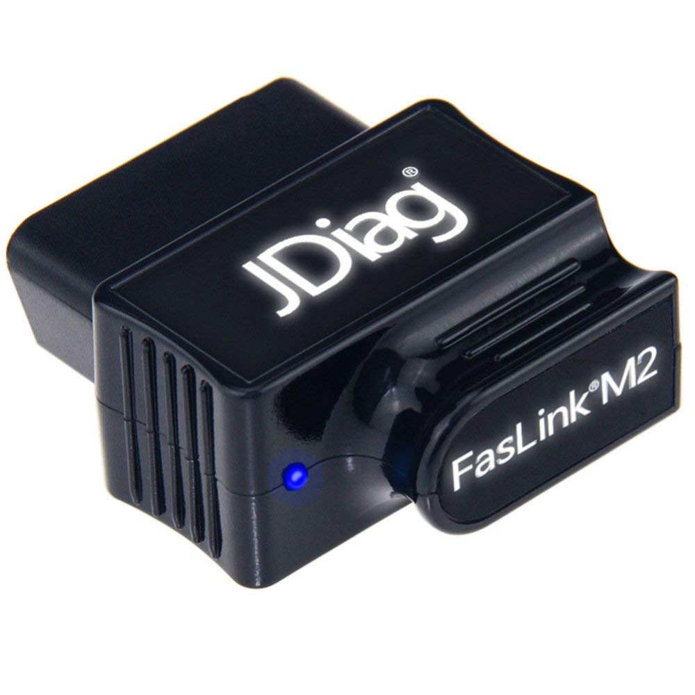 JDiag Faslink M2 Bluetooth 4.2 OBD2 Scanner Check engine Light code Reader Compatible iPhone iOS and Android