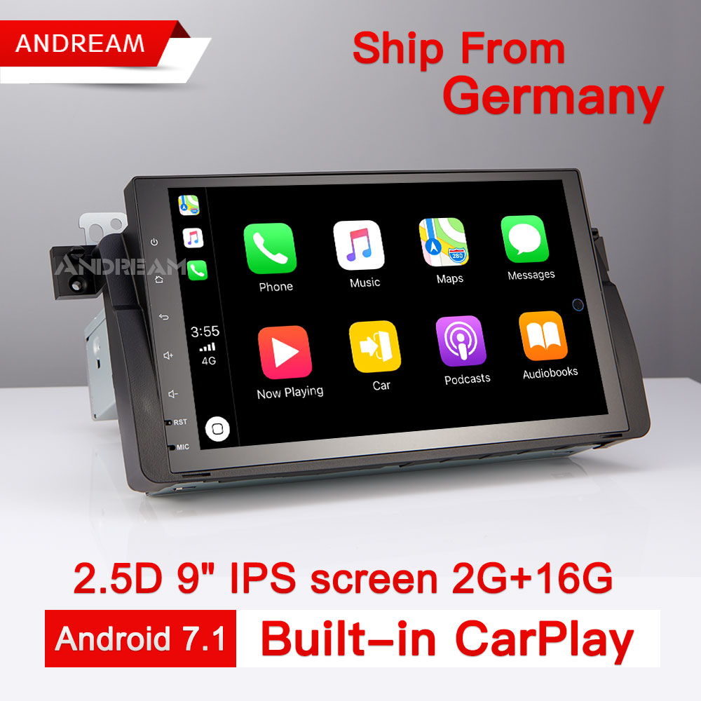 Android 7.1 Car DVD Player Stereo Radio IPS Screen GPS Navigation For BMW/E46/M3/MG/ZT Quad-Core 2G/16G Bulit-in CarPlay isudar car multimedia player gps for bmw e46 m3 mg zt rover 75 canbus radio capacitive touch screen dvd player bluetooth ipod