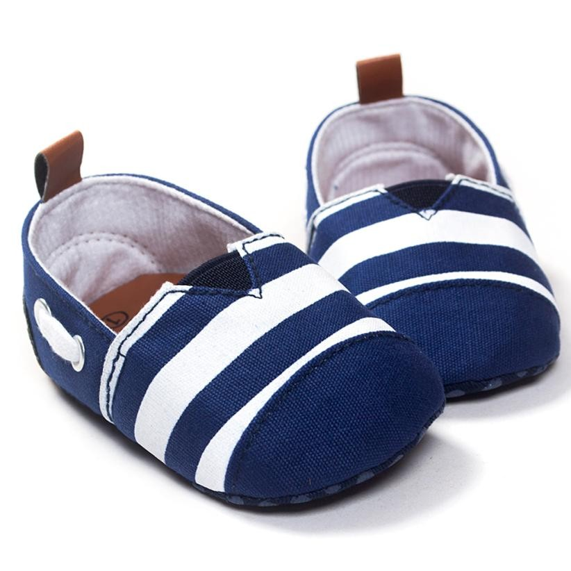 Todder pre-walker Loafers Soft Flat Leather Shoes Casual Infant Summer stripe Anti-slip Shoes Scarpe Bimbo QZ6