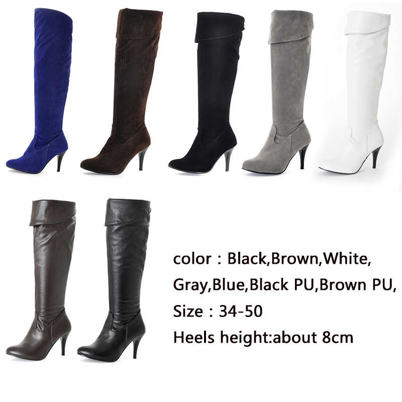 Karinluna คลาสสิก dropship ขนาดใหญ่ขนาด 50 รองเท้าส้นสูงผู้หญิงรองเท้าผู้หญิง 2019 เซ็กซี่ผู้หญิงเข่าสูงรองเท้าผู้หญิง