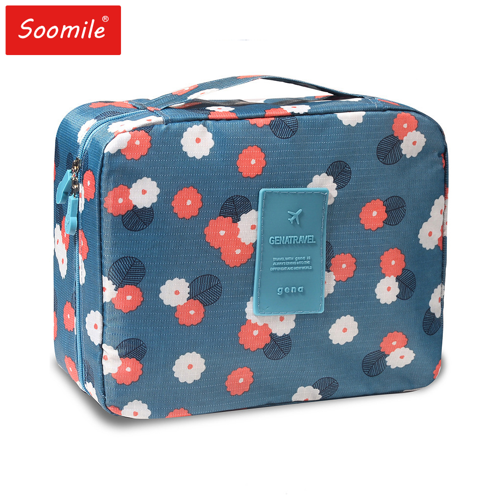 Women Portable Cosmetic Bag Travel Organizer For Makeup Top Design Boutique Waterproof Zipper  Make Up Bag Dot Beauty Wash Pouch