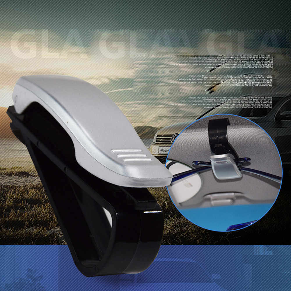 Car Sun Visor Glasses Sunglasses Ticket Receipt Card Clip Storage Holder clamp Universal Vehicle Car Accessories drop ship #T