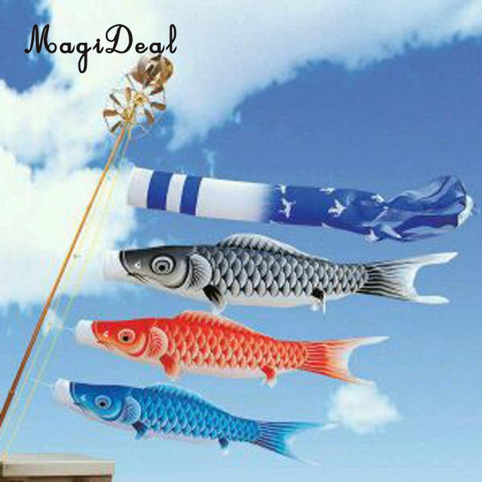 5x Chinese Dragon Windsock Carp Flag Kite Streamer Boat Decor Hanging Flag